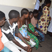 Pregnant women waiting to be attended to at Lira hospital maternity ward